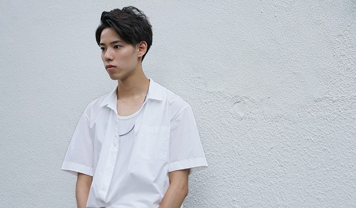 name : tatsuhiro nozaki(21) instagram : noza_t tops : SENSE OF PLACE pants : used shoes : FRED PERRY